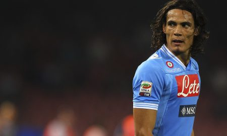 NAPLES, ITALY - OCTOBER 07:  Edinson Cavani of SSC Napoli looks on during the Serie A match between SSC Napoli v Udinese Calcio at Stadio San Paolo on October 7, 2012 in Naples, Italy.  (Photo by Marco Luzzani/Getty Images)